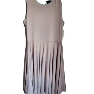 Cynthia Rowley   Taupe Fit and Flare Skate Dress